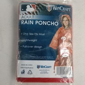 NEW! Poncho! Adult (Phillies)